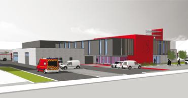 Dépôt de permis pour le projet 314 : poste de secours de la zone de secours Vesdre-Hoëgne & Plateau