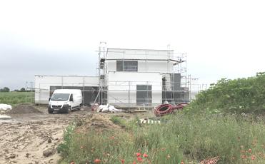 345-Avancement du chantier de la Clinique Dentaire à Hannut