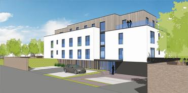 378-Dépôt du permis pour la construction d'un immeuble de 10 appartements à LIERS